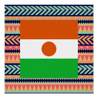 Colorful Niger Flag Box Poster