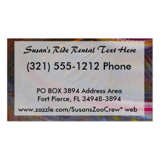 Colorful night fair ride action spinning shot business card