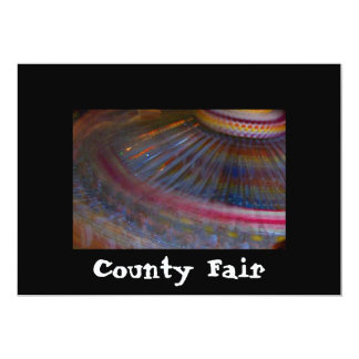 """Colorful night fair ride action spinning shot 5"""" x 7"""" invitation card"""