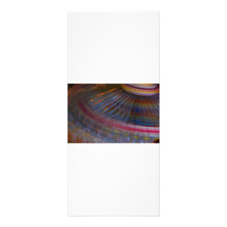 Colorful night fair ride action spinning shot rack card