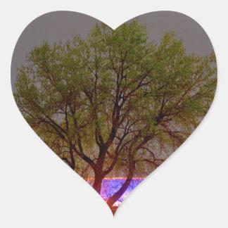 Colorful Night Heart Sticker