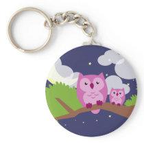 Colorful Night Owl Keychain