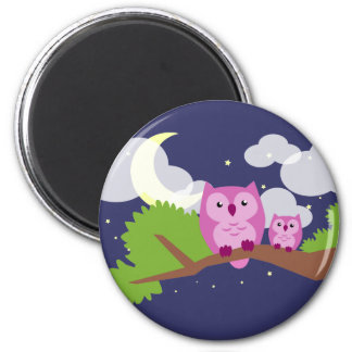 Colorful Night Owl Magnet