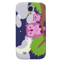 Colorful Night Owl Samsung Galaxy S4 Case