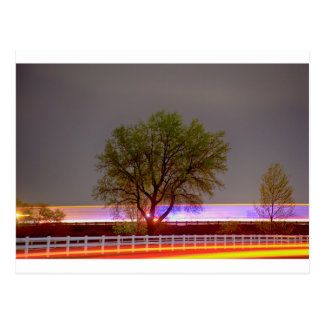 Colorful Night Postcard