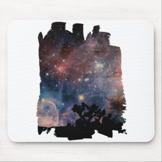 Colorful Night Sky while Camping & Reading Mouse Pad