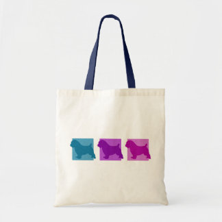 Colorful Norfolk Terrier Silhouettes Tote Bag