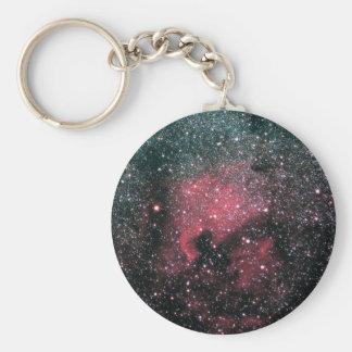 Colorful North America nebula Keychain