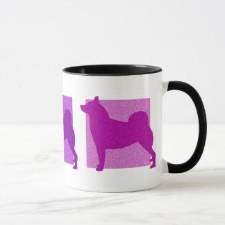 Colorful Norwegian Buhund Silhouettes Mug