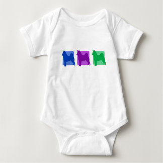 Colorful Norwegian Elkhound Silhouettes Infant Creeper