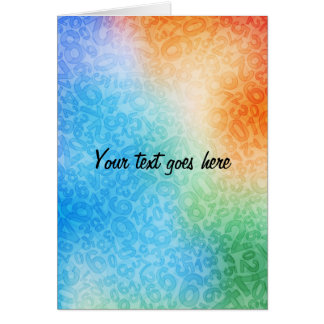 colorful note card