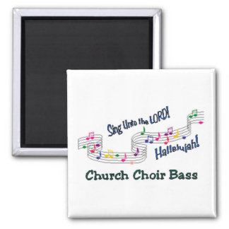 Colorful Notes Choir Members 2 Inch Square Magnet