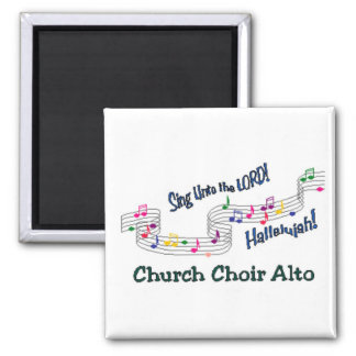 Colorful Notes Choir SATB 2 Inch Square Magnet