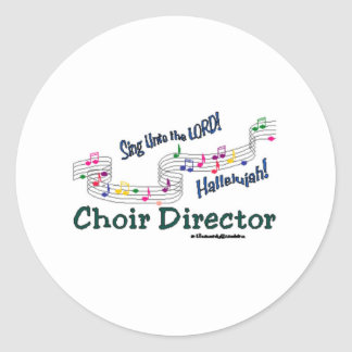 Colorful Notes Classic Round Sticker