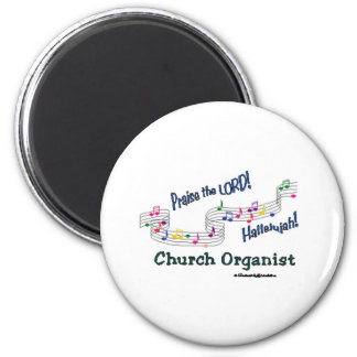 Colorful Notes Organist Magnet