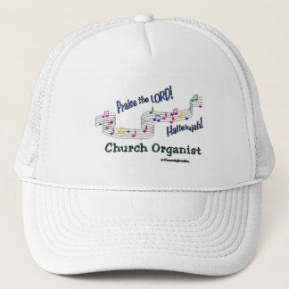 Colorful Notes Organist Trucker Hat
