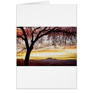 Colorful November Sunset Sky and Longs Peak Card