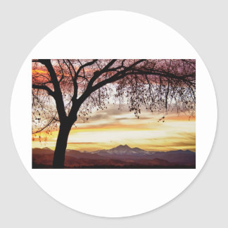 Colorful November Sunset Sky and Longs Peak Sticker