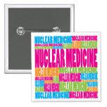 Colorful Nuclear Medicine Pinback Button