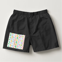 Colorful Numbers Pattern Boxers