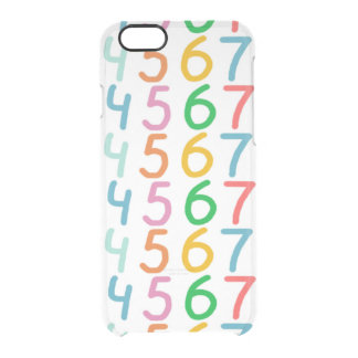 Colorful Numbers Pattern Clear iPhone 6/6S Case
