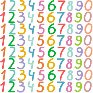 Colorful Numbers Pattern Cutout