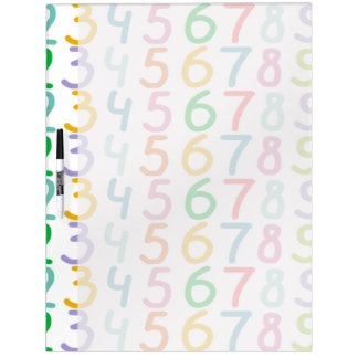 Colorful Numbers Pattern Dry-Erase Board