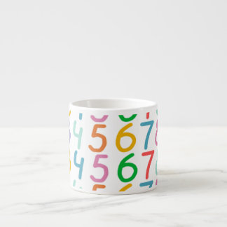 Colorful Numbers Pattern Espresso Cup