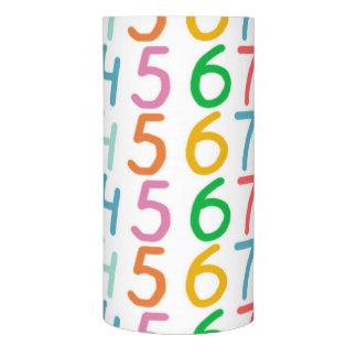 Colorful Numbers Pattern Flameless Candle