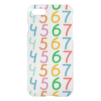 Colorful Numbers Pattern iPhone 8/7 Case