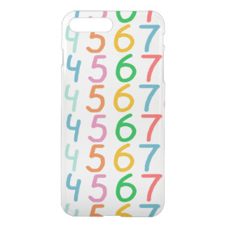 Colorful Numbers Pattern iPhone 8 Plus/7 Plus Case