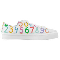 Colorful Numbers Pattern Low-Top Sneakers