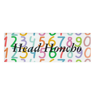 Colorful Numbers Pattern Name Tag
