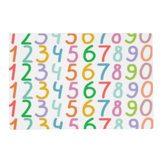 Colorful Numbers Pattern Placemat