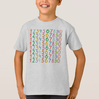 Colorful Numbers Pattern T-Shirt