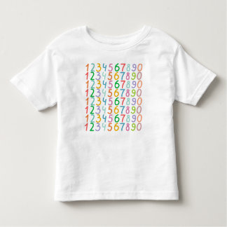 Colorful Numbers Pattern Toddler T-shirt