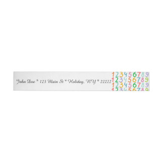 Colorful Numbers Pattern Wrap Around Address Label