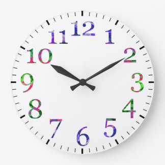 Colorful numbers wall clock. clock