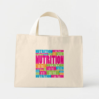 Colorful Nutrition Mini Tote Bag