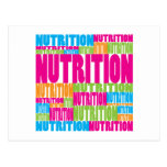 Colorful Nutrition Postcard