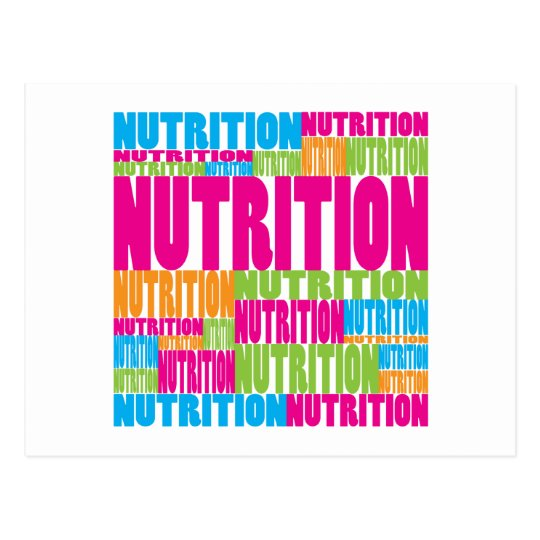 Colorful Nutrition Postcard