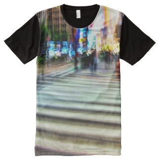 Colorful NYC Street Abstract All-Over-Print T-Shirt