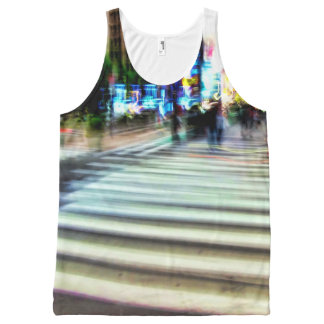 Colorful NYC Street Abstract All-Over Print Tank Top
