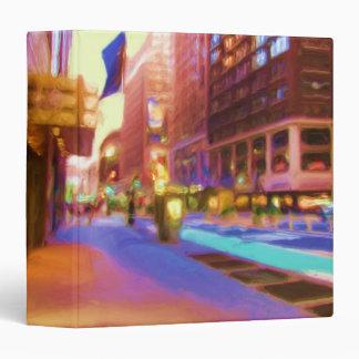 "Colorful NYC Street Scene 1.5"" Photo Album Binder"