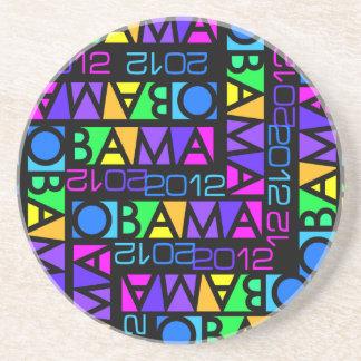 Colorful Obama 2012 coaster