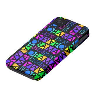Colorful Obama 2012 iPhone 4 Case-Mate Case-Mate iPhone 4 Case