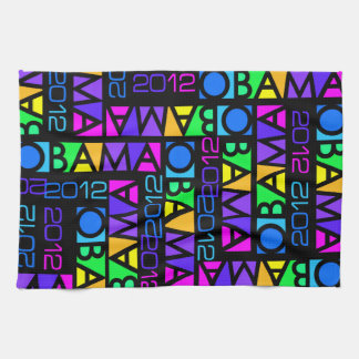 Colorful Obama 2012 kitchen towels