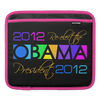 Colorful Obama 2012 laptop / iPad sleeve