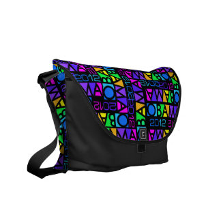 Colorful Obama 2012 messenger bag