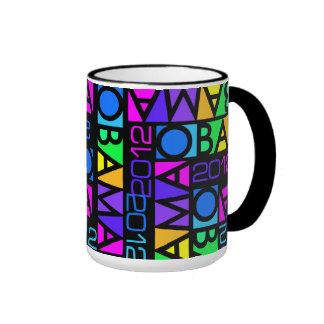 Colorful Obama 2012 mug - choose style & color